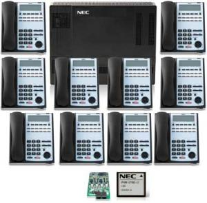 NEC 1100 10-Phone Kit with Voice Mail - New - 2 Year Warranty - $2499.00