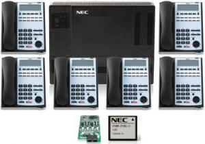 NEC Business Phone System 4X8 Kit With 6 Phones and Voice Mail