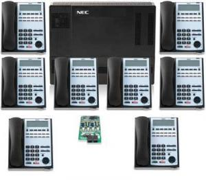 NEC 1100 Kit with 8) 12-Button Phones