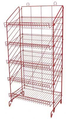 Adjule Floor Chip Display Rack 52 3 4 High Es Fl5s 24 Red