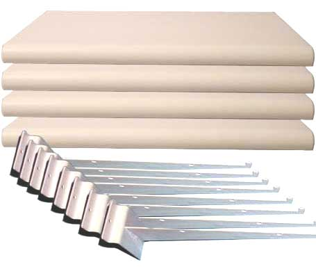 White Slatwall Shelves